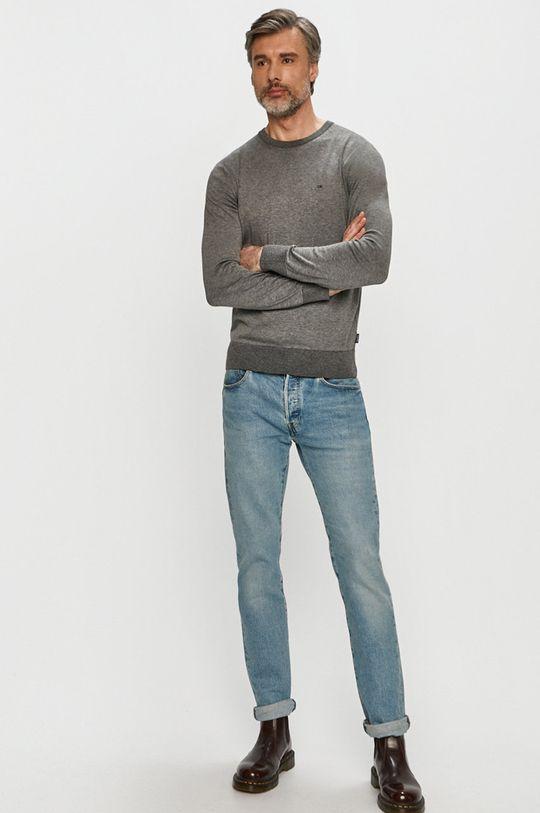 Calvin Klein - Sweter K10K104920 szary