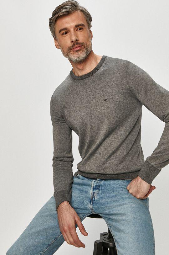 szary Calvin Klein - Sweter K10K104920