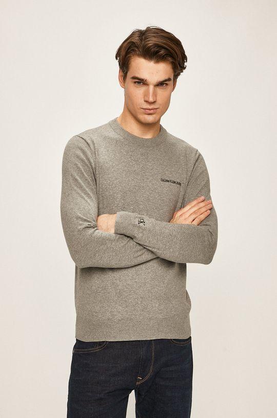 gri deschis Calvin Klein Jeans - Pulover De bărbați
