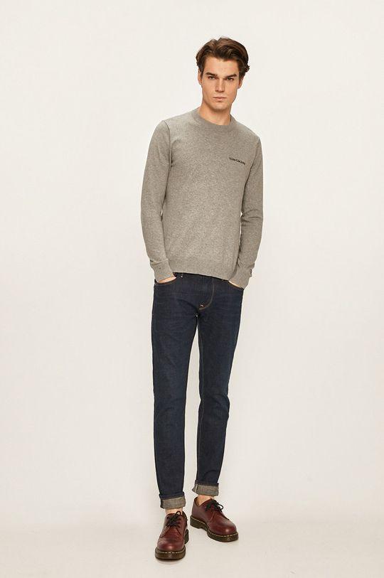 Calvin Klein Jeans - Pulover gri deschis