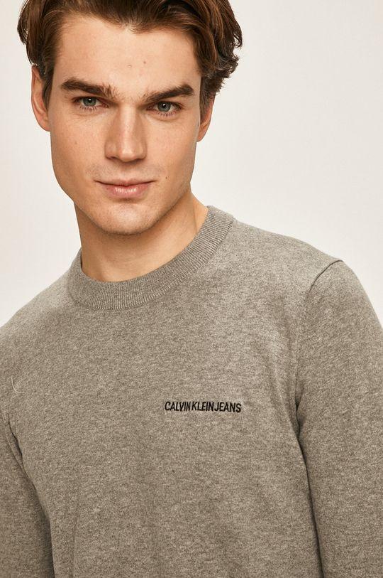 gri deschis Calvin Klein Jeans - Pulover