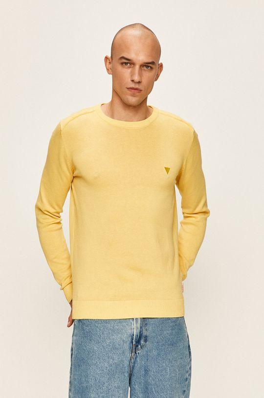 galben deschis Guess Jeans - Pulover De bărbați
