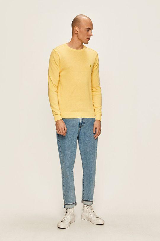 Guess Jeans - Pulover galben deschis