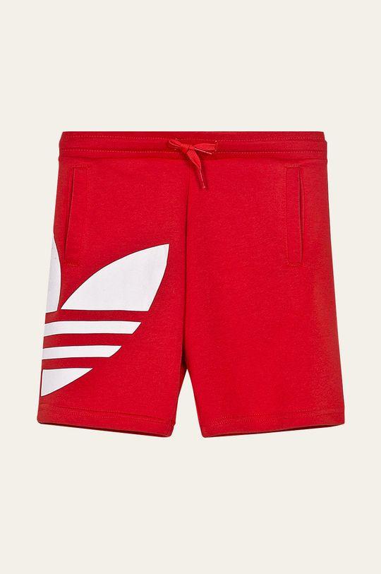 červená adidas Originals - Dětské kraťasy 128-164 cm Chlapecký