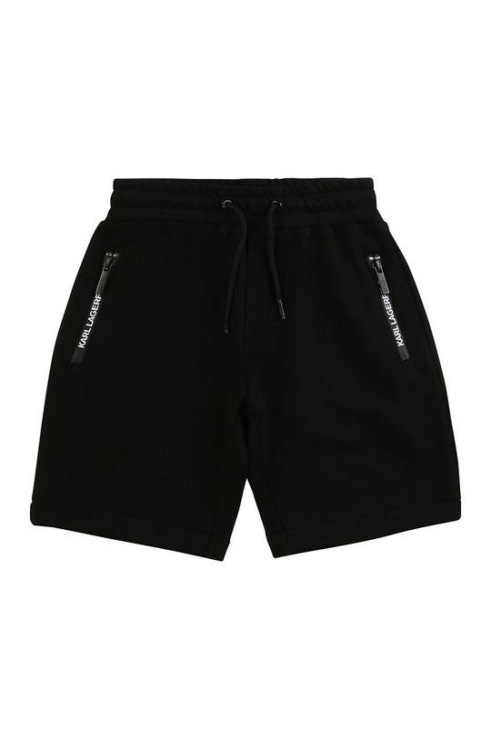 negru Karl Lagerfeld - Pantaloni scurti copii 114-150 cm De băieți