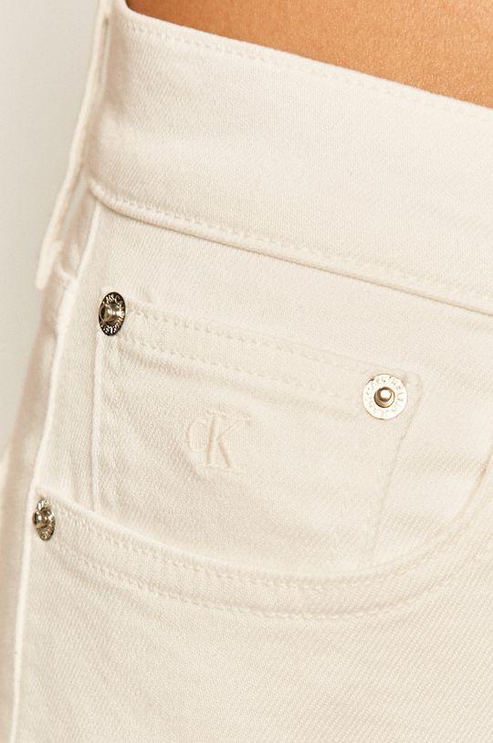 bílá Calvin Klein Jeans - Džínové šortky