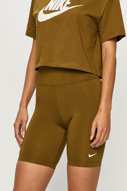 oliwkowy Nike Sportswear - Szorty Damski