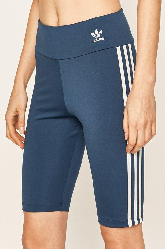 ocelová modrá adidas Originals - Kraťasy Dámský