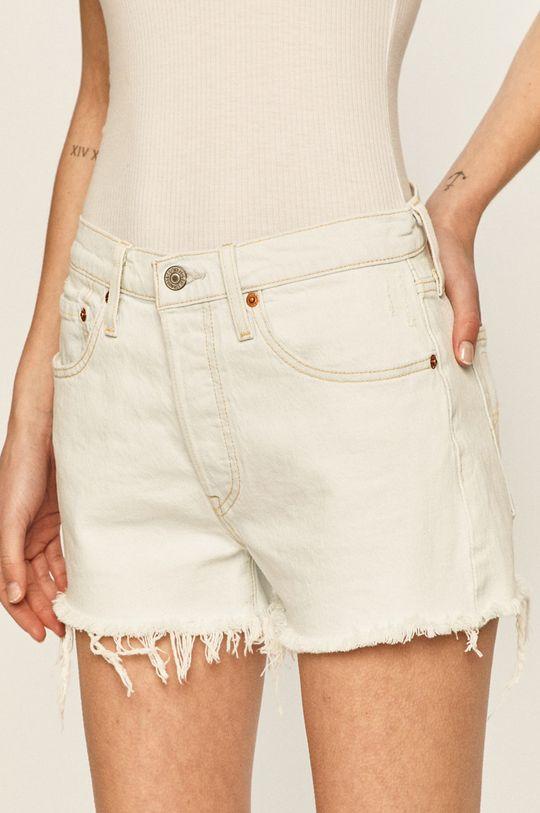 svetlomodrá Levi's - Rifľové krátke nohavice Dámsky