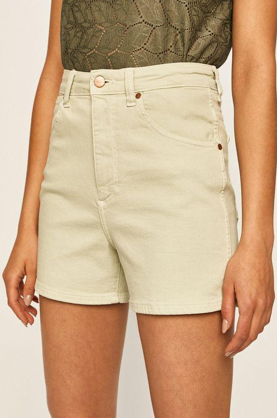 zielony Wrangler - Szorty jeansowe Damski
