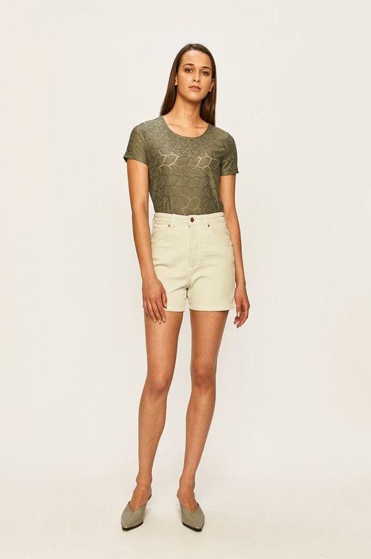 Wrangler - Szorty jeansowe zielony
