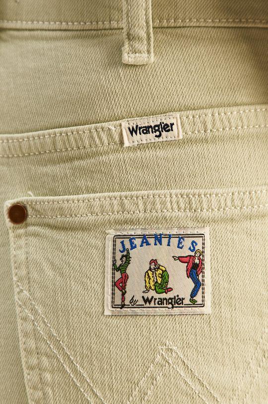 zielony Wrangler - Szorty jeansowe