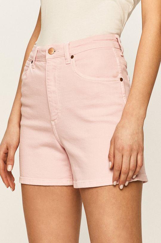 розов Wrangler - Дънкови къси панталони Жіночий