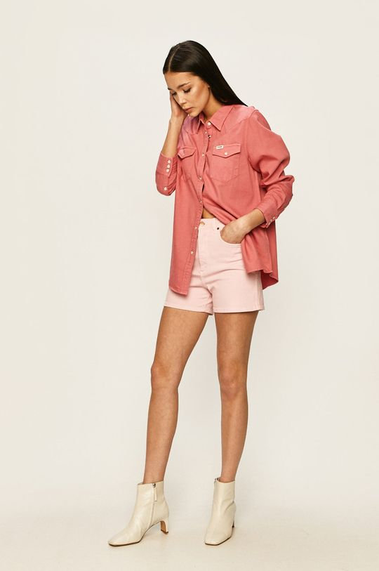 Wrangler - Дънкови къси панталони розов