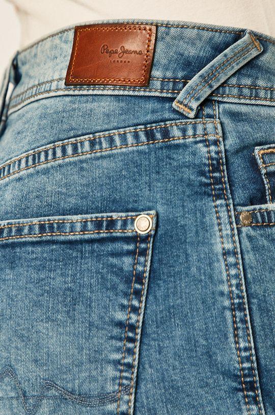 modrá Pepe Jeans - Džínové šortky Poppy