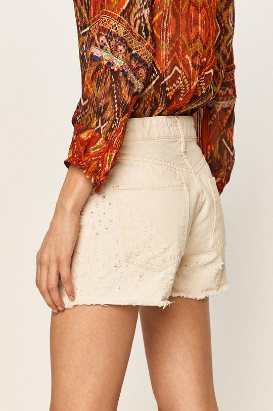 Pepe Jeans - Rifľové krátke nohavice Mable  Základná látka: 100% Bavlna Podšívka vrecka: 38% Bavlna, 62% Polyester