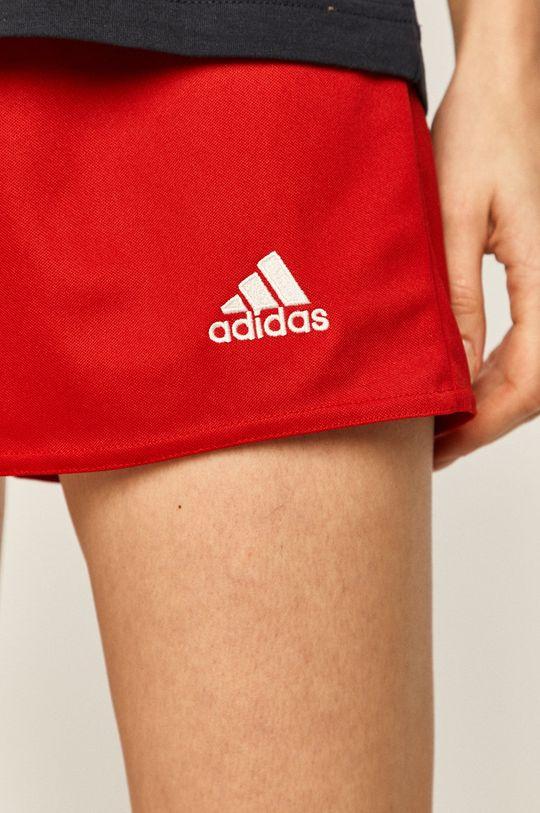 czerwony adidas Performance - Szorty