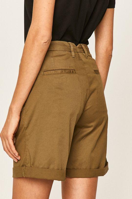 Guess Jeans - Pantaloni scurti Materialul de baza: 97% Bumbac, 3% Elastan Alte materiale: 100% Bumbac
