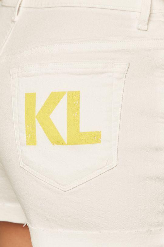 biela Karl Lagerfeld Denim - Rifľové krátke nohavice