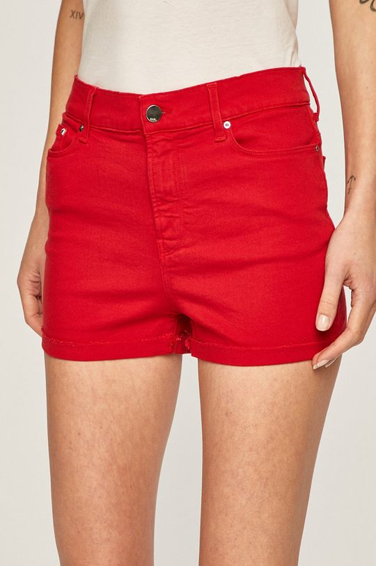 rosu Karl Lagerfeld Denim - Pantaloni scurti jeans De femei