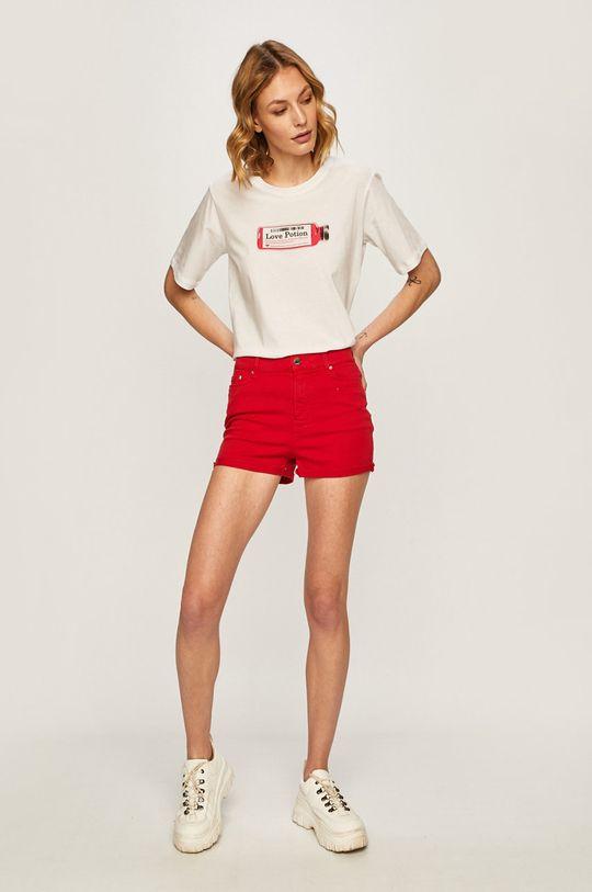 Karl Lagerfeld Denim - Pantaloni scurti jeans rosu