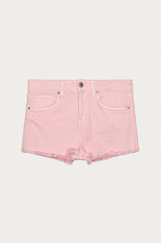 pastelově růžová Pepe Jeans - Dětské kraťasy Patty 128-180 cm Dívčí