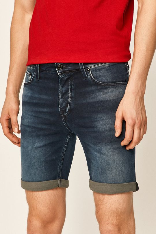 námořnická modř Jack & Jones - Džínové šortky Pánský