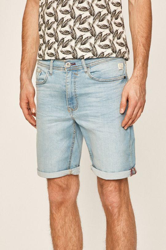 svetlomodrá Blend - Rifľové krátke nohavice Pánsky