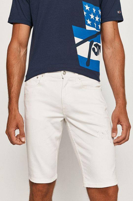 bílá Calvin Klein Jeans - Džínové šortky Pánský