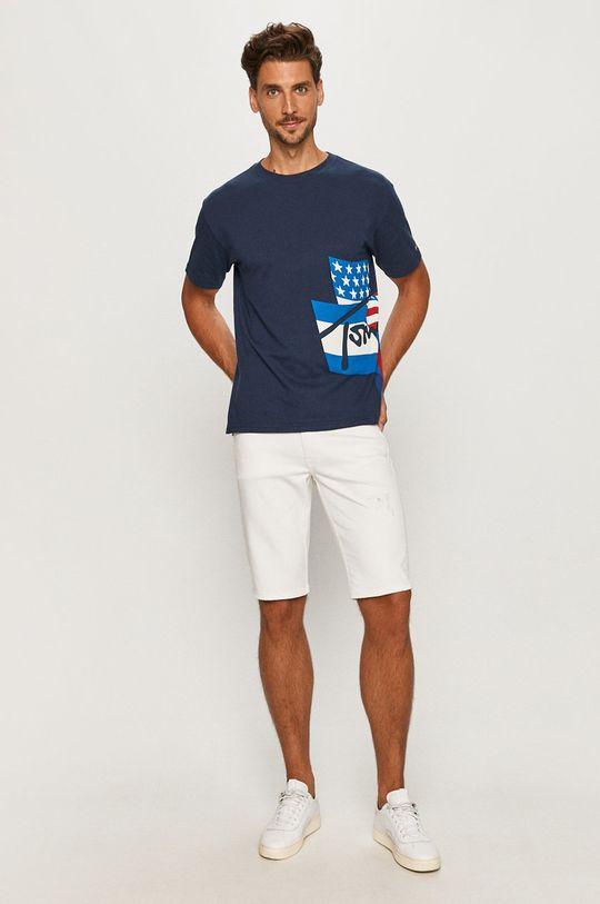 Calvin Klein Jeans - Džínové šortky bílá