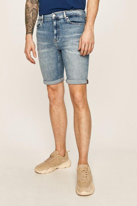 albastru Calvin Klein Jeans - Pantaloni scurti jeans De bărbați