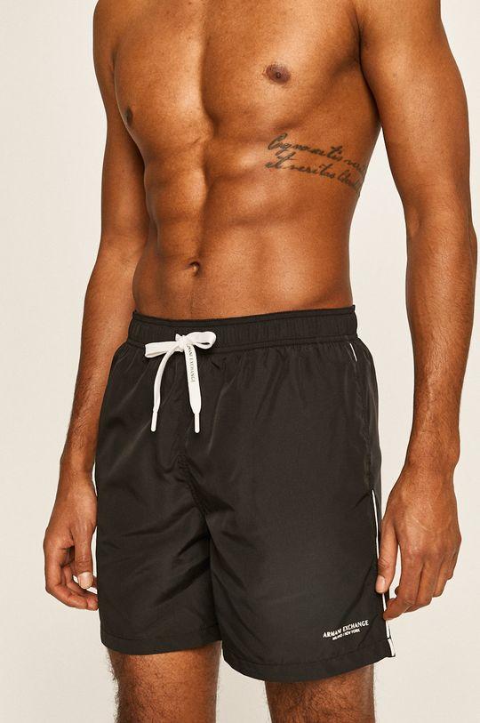 černá Armani Exchange - Plavkové šortky Pánský