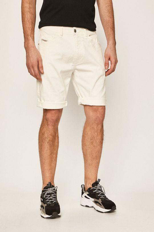 biały Diesel - Szorty jeansowe Męski