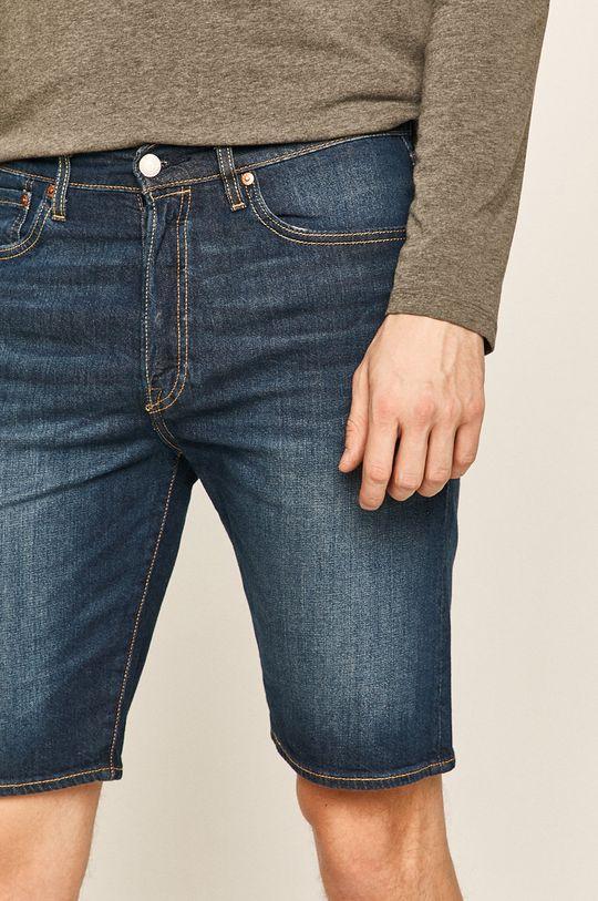 tmavomodrá Levi's - Rifľové krátke nohavice