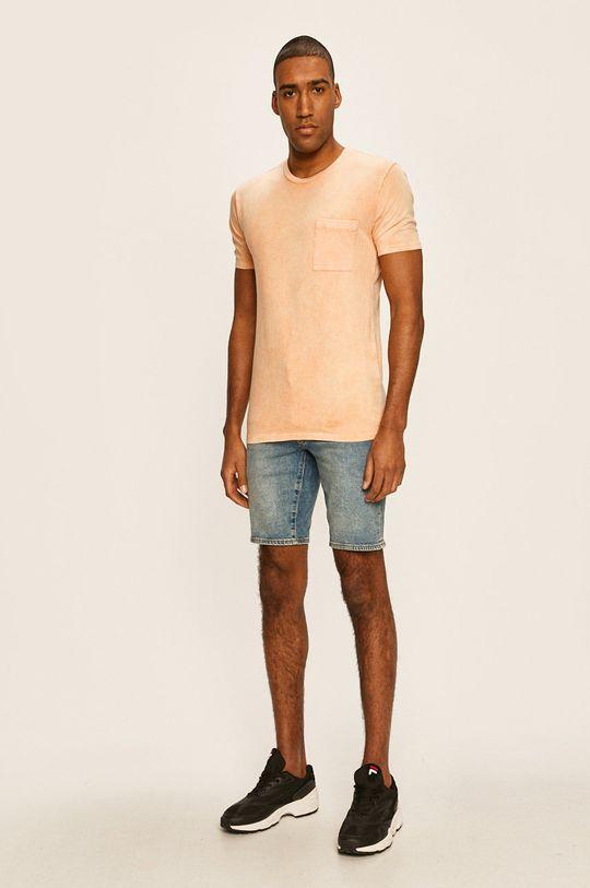 Levi's - Szorty jeansowe stalowy niebieski