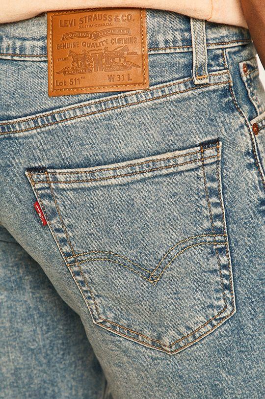 stalowy niebieski Levi's - Szorty jeansowe