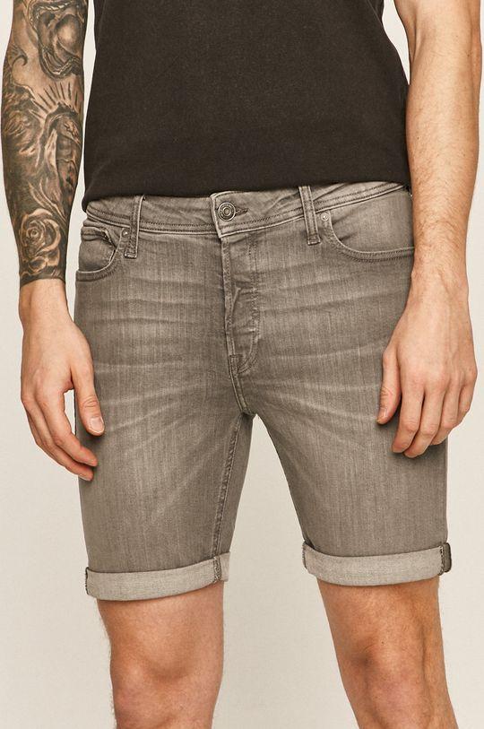 šedá Jack & Jones - Džínové šortky 12166861 Pánský
