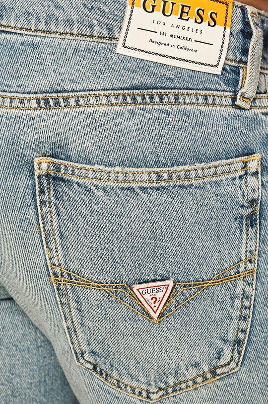 svetlomodrá Guess Jeans - Rifľové krátke nohavice