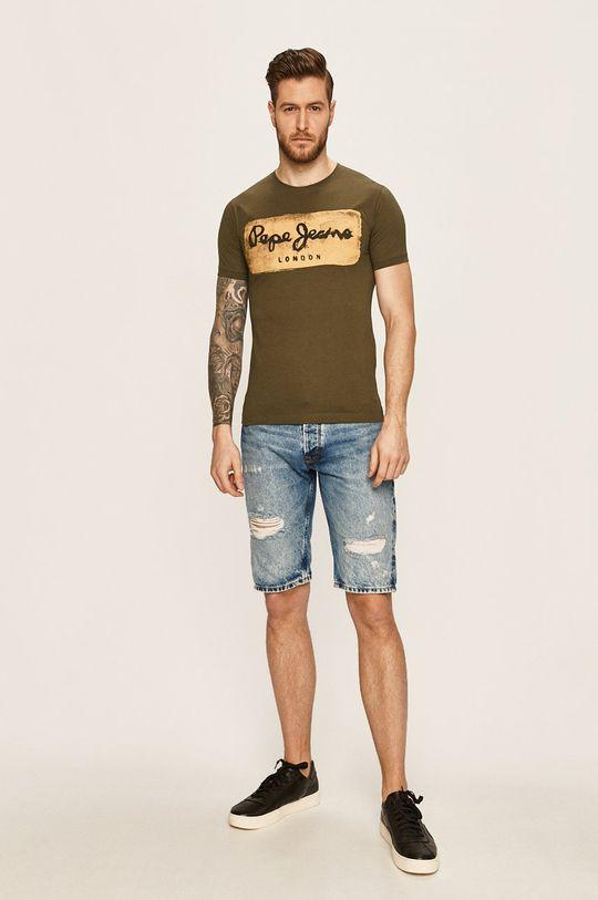 Pepe Jeans - Szorty jeansowe Callen niebieski