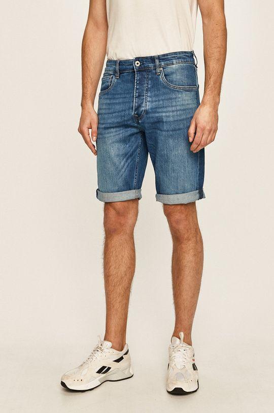 niebieski Pepe Jeans - Szorty jeansowe Callen Męski