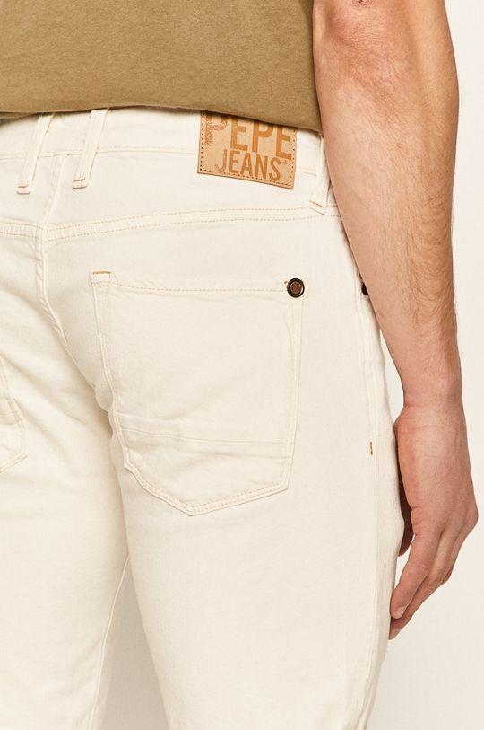 alb Pepe Jeans - Pantaloni scurti jeans Stanley