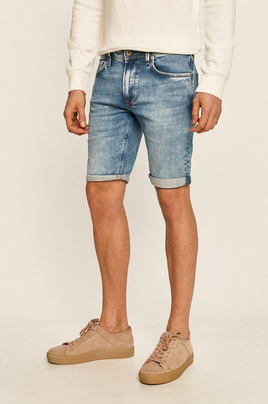 albastru Pepe Jeans - Pantaloni scurti jeans Stanley De bărbați
