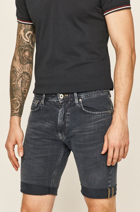 granatowy Pepe Jeans - Szorty jeansowe Stanley Męski