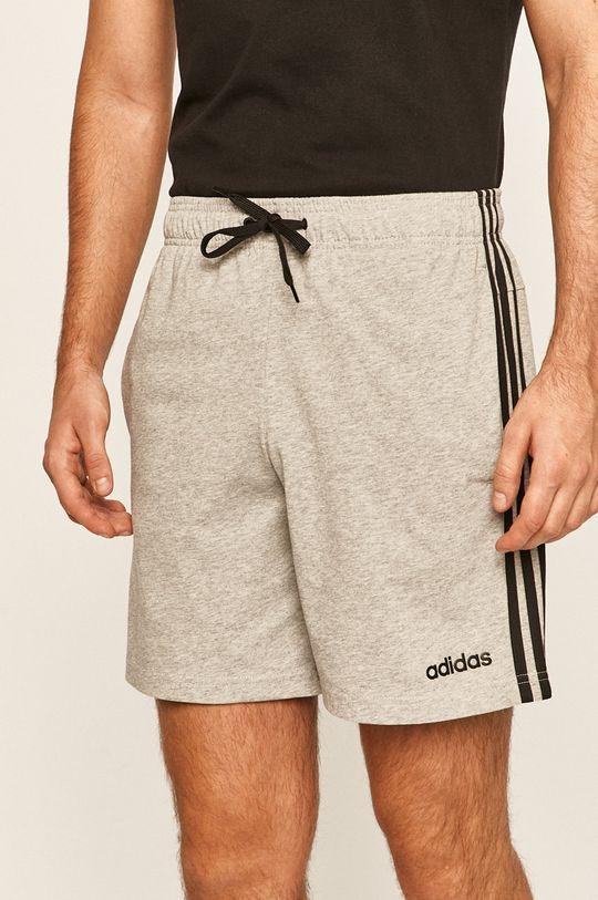 светлосив adidas - Къси панталони Чоловічий