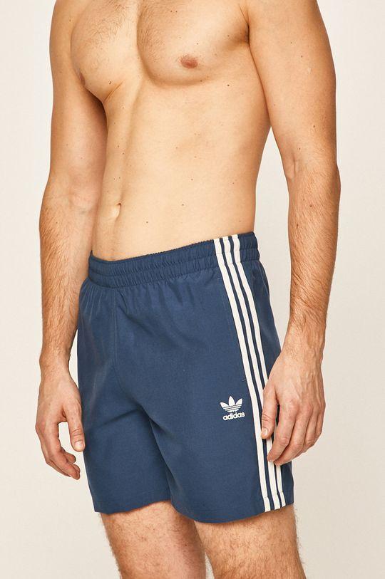 oceľová modrá adidas Originals - Plavkové šortky Pánsky