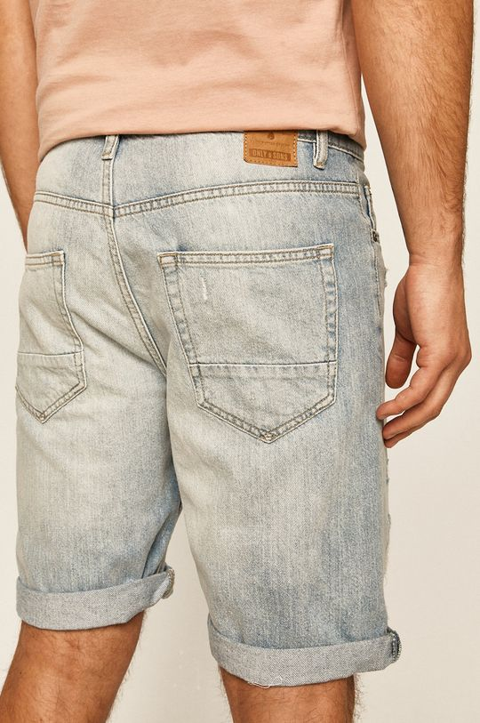 Only & Sons - Džínové šortky  100% Bavlna