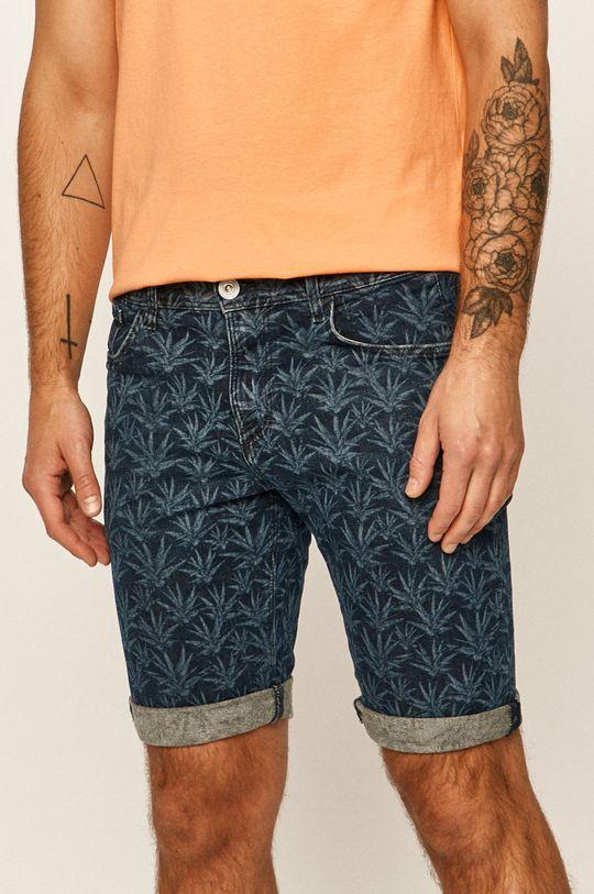 námořnická modř Tom Tailor Denim - Džínové šortky Pánský
