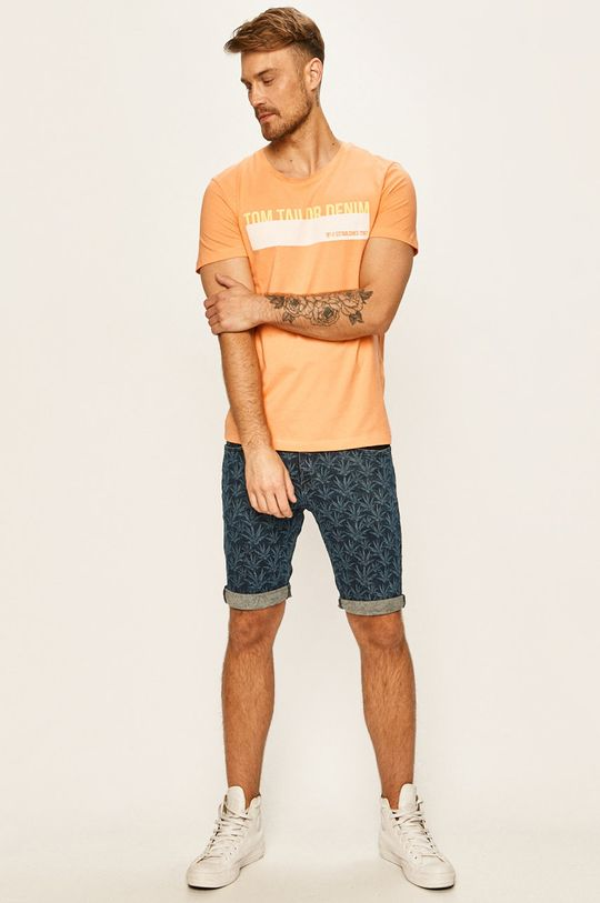 Tom Tailor Denim - Džínové šortky námořnická modř