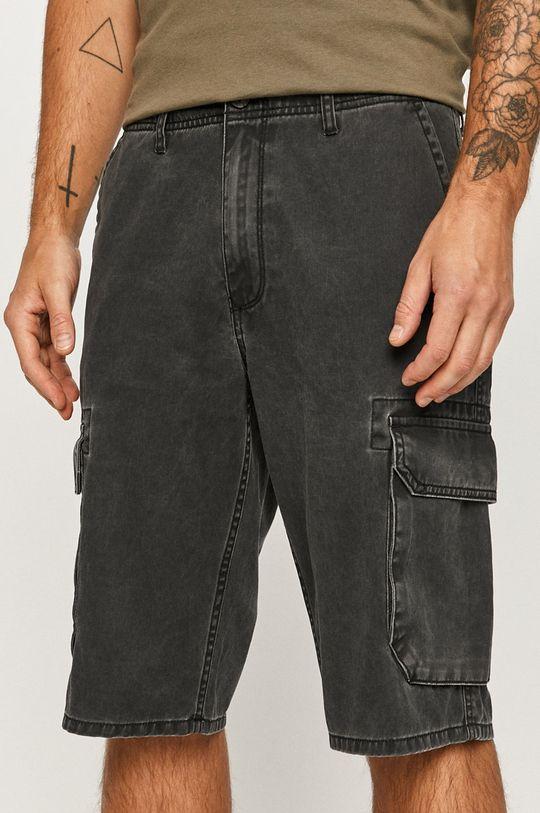 sivá Wrangler - Rifľové krátke nohavice Pánsky