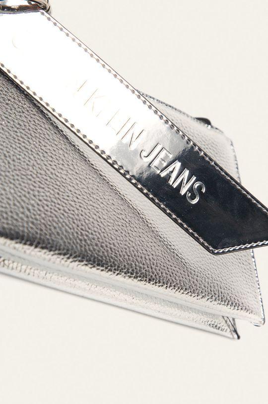 Calvin Klein Jeans - Kabelka stříbrná